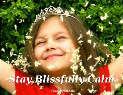 blissfully calm
