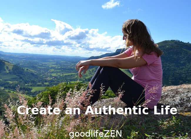 Authentic Life - Woman on hill