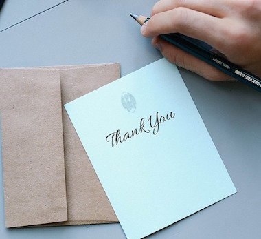 Gratitude Habits - Thank You note