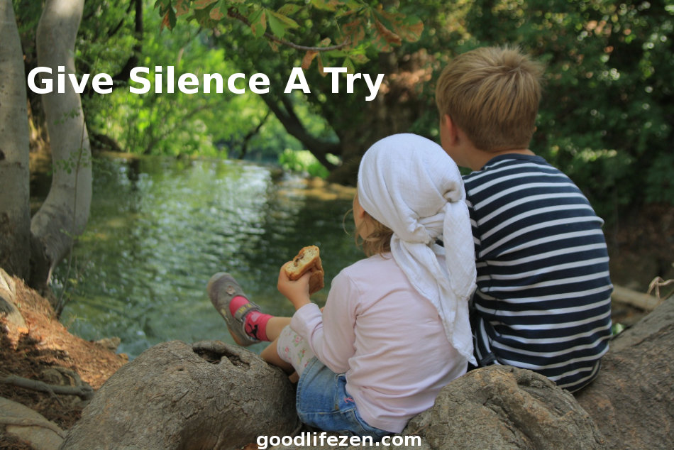 Silence - two children by pool