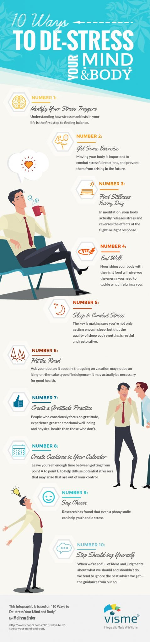 De-stress your mind and body: infographic