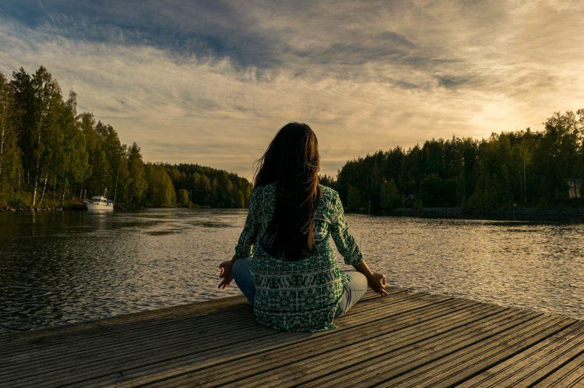 daily habits - woman meditating