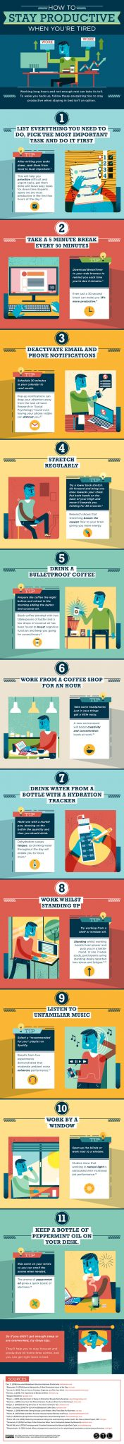 Stay Productive - infographic
