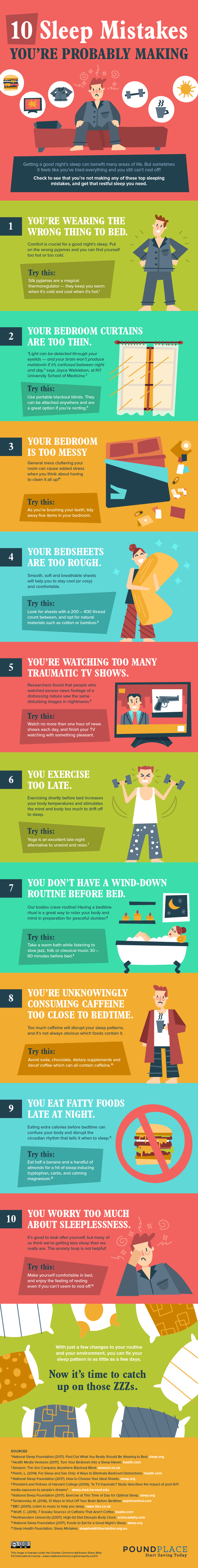slee mistakes - infographic