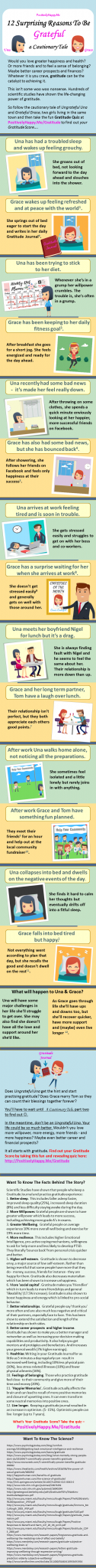 12 Little-known reasons to be grateful - infographic