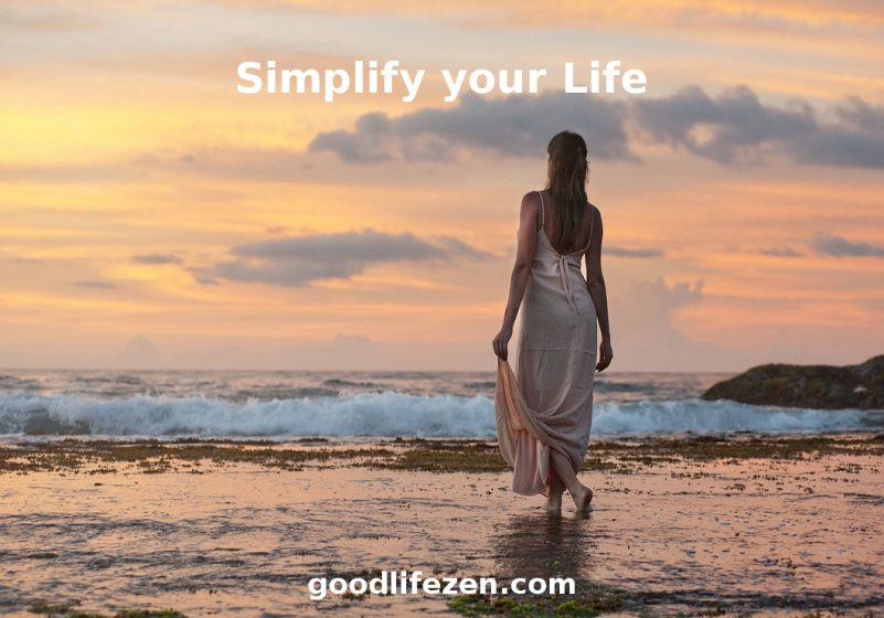 simplify; woman on beach