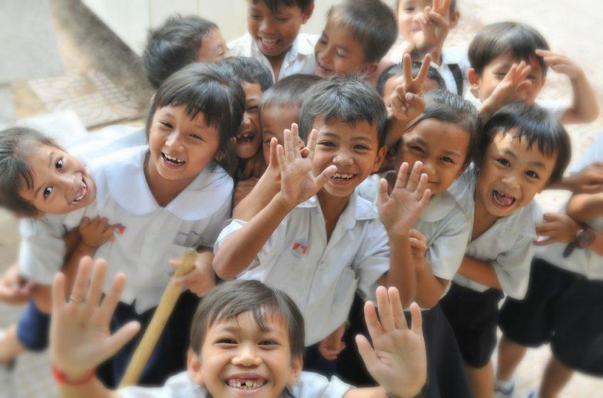happiness around the world - children playing